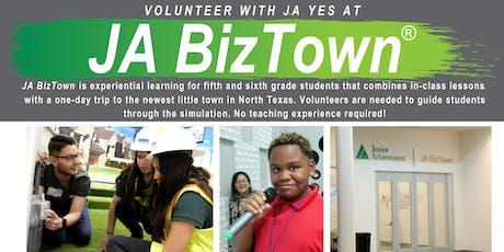 JA YES JA BizTown Volunteering tickets