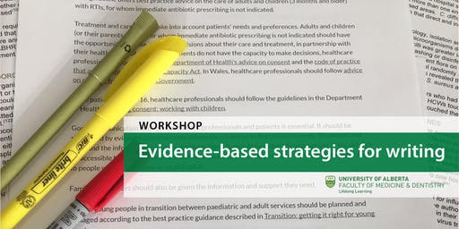 Evidence-based strategies for writing