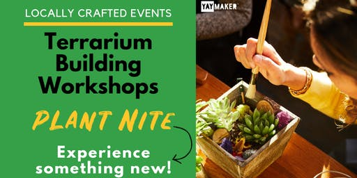 Plant & Sip Terrarium Workshop in Lake City with Plant Nite