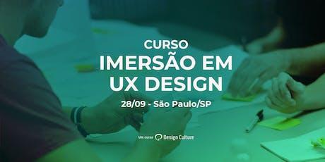 Curso Imersão em UX Design em São Paulo tickets
