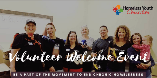 Homeless Youth Connection: Volunteer Welcome Event