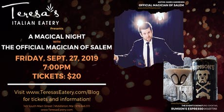 A Magical Night with the Official Magician of Salem, Anton James Andresen tickets