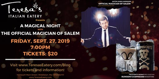 A Magical Night with the Official Magician of Salem, Anton James Andresen