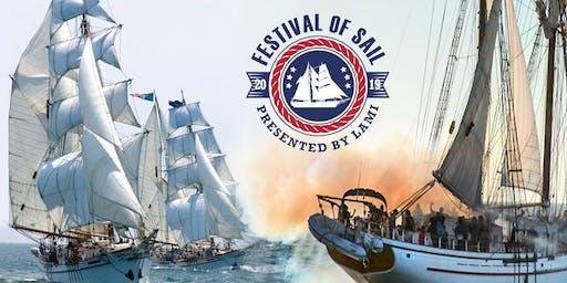 Festival of Sail Cannon Battle Sail