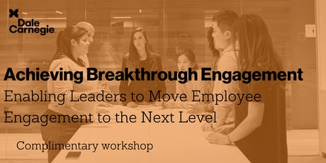 Achieving Breakthrough Engagement - Workshop tickets