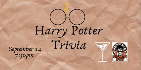 Harry Potter Movie Trivia - Sept 24, 7:30pm - Garbonzo's  tickets