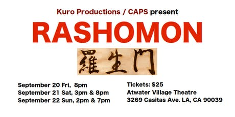 Theatrical play, RASHOMON, a fascinating drama of the nature of truth!! tickets