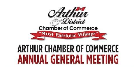 Arthur Chamber AGM Dinner tickets