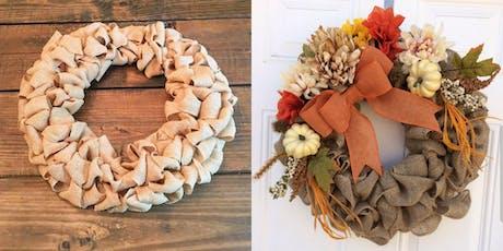 Fall Burlap Wreath tickets