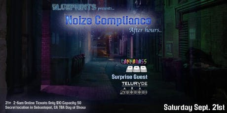 """Blueprints """"Noise Compliance"""" afterhours... tickets"""