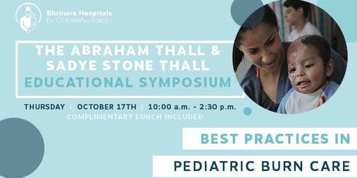 Thall Educational Symposium: Best Practices in Pediatric Burn Care