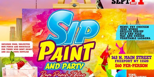 SIP AND PAINT ..RUM PUNCH EDITION