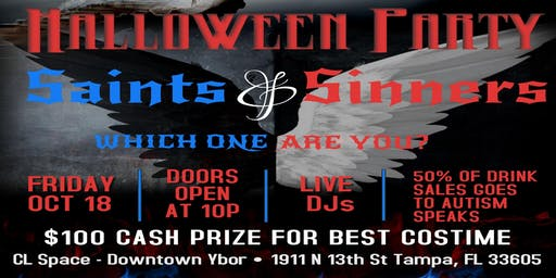Saints & Sinners Halloween Party @ CL Space - Ybor