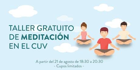 Taller de meditación en el CUV entradas