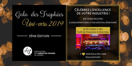 Gala des Trophées Uni-Vers 2019 tickets