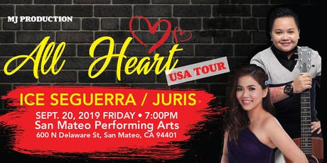 All Heart 2019 US Tour with Ice Seguerra and Juris tickets