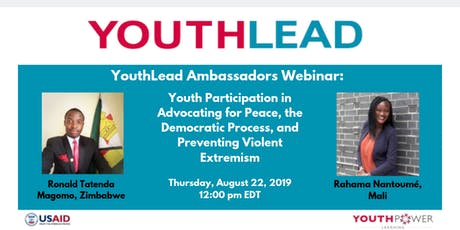 Youth Participation in Advocating for Peace, the Democratic Process, & PVE tickets