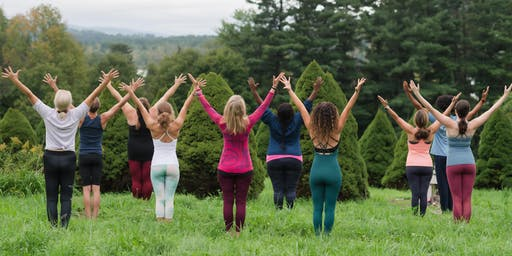 Yoga in the Garden presented by Tufts Medical Center; a Be Well Boston Event