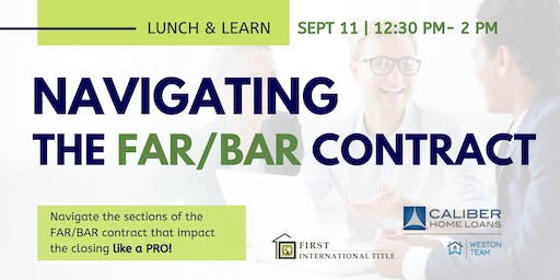 Lunch and Learn: Navigating the FAR/BAR Contract