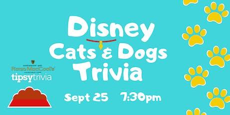 Disney Cats & Dogs Trivia - Sept 25, 7:30pm - Fionn MacCool's tickets