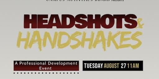 Handshakes and Headshots | Welcome Week Activities