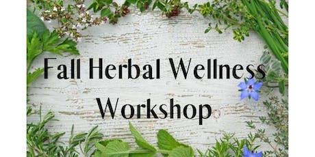 Fall Herbal Wellness Workshop tickets