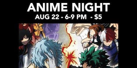 Anime Night - My Hero Academia tickets