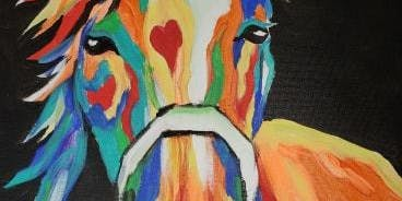 Colorful Horse Painting at Oak Shores