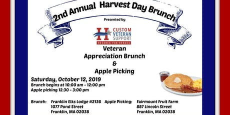 2nd Annual Harvest Day Brunch: A Day of Veteran Appreciation tickets