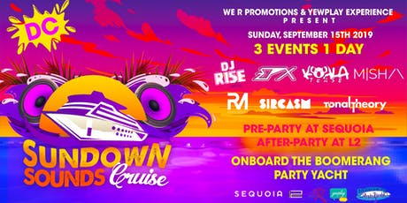 Sundown Sounds Cruise DC 3 events 1 day tickets