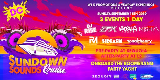 Sundown Sounds Cruise DC 3 events 1 day