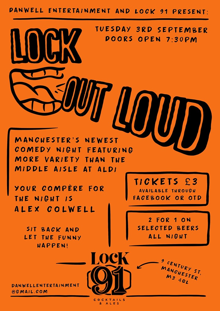 LOCK OUT LOUD - Comedy Night Manchester image