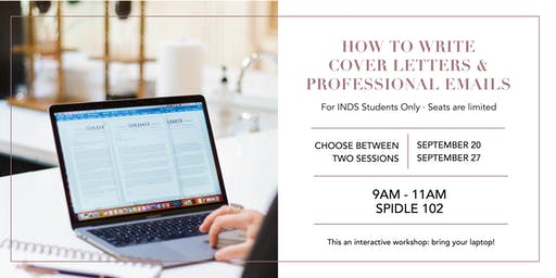 How to Write Cover Letters & Professional Emails: A Workshop with Eloise Stewart