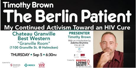 COMMUNITY FORUM: Timothy Brown - The Berlin Patient tickets