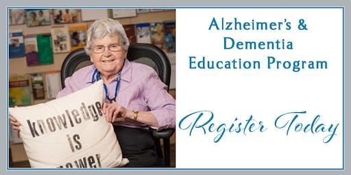 Understanding Alzheimer's & Dementia, Alzheimer's Workshop, January 14, 2020, Kadlec Healthplex