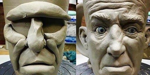 Funny Face Mug Pottery Class