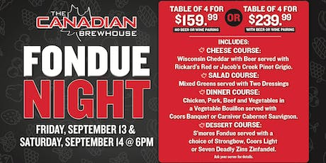 Fondue Night in Winnipeg!  tickets
