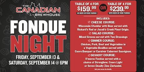 Fondue Night in Winnipeg!  tickets