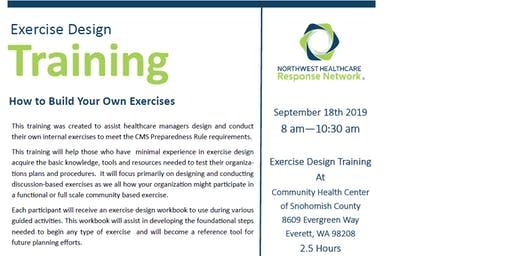 Northwest Healthcare Response Network Exercise Design Training