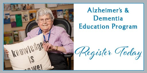 Early-Stage Alzheimer's for Caregivers, Alzheimer's Workshop, May 12, 2019, Kadlec Healthplex