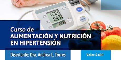 CURSO DE ALIMENTACIÓN Y NUTRICIÓN EN HIPERTENSIÓN entradas