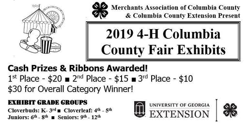 County Fair 4-H Exhibit Registration (Grades K-12/FREE)