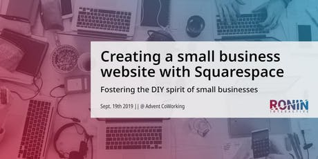 Creating a small business website with Squarespace tickets
