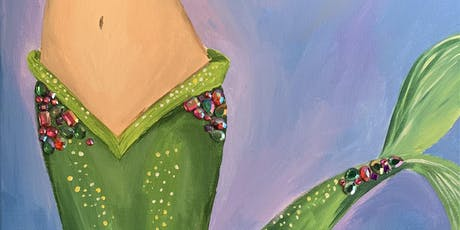 """""""Mermaid Tail with BLING!!"""" Painting & Vino Event tickets"""