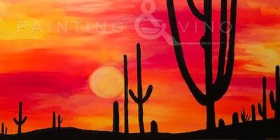 """Autumn Sunset in AZ"" Painting & Vino Event"