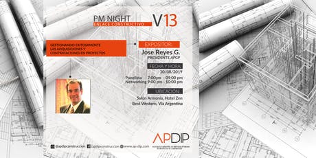 PM NIGHT Vol 13 Gestionando exitosamente las adquisiciones y contrataciones boletos