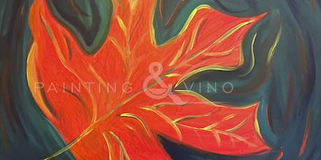 """""""Red Maple Leaf"""" Painting & Vino Event tickets"""