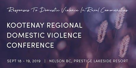 Kootenay Regional Domestic Violence Conference tickets
