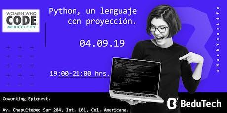 Python, un lenguaje con proyección. entradas
