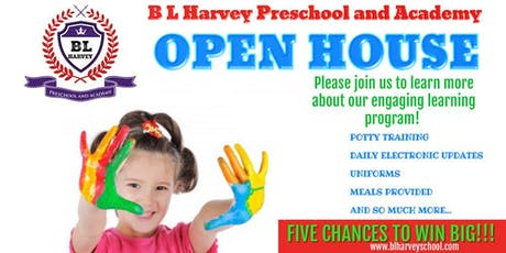 B L Harvey Preschool and Academy Open House tickets